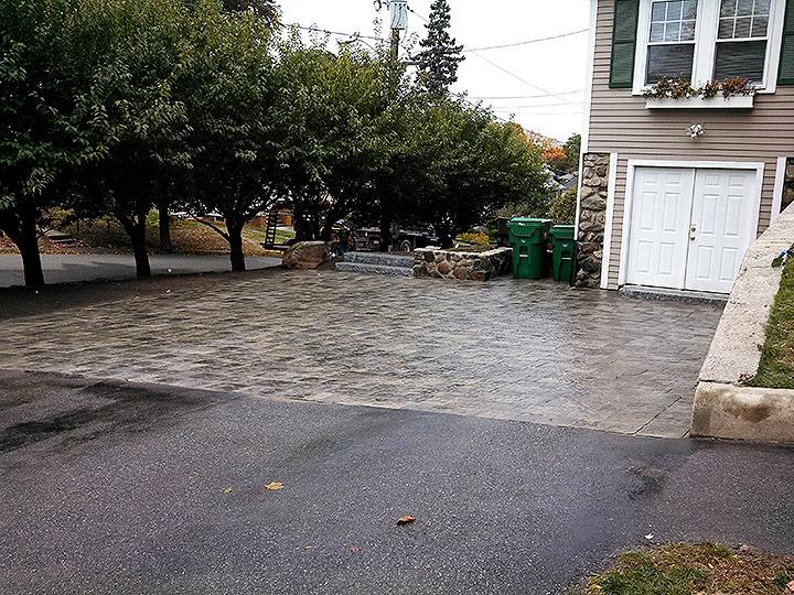 new england landscaper Medford, MA paver driveway