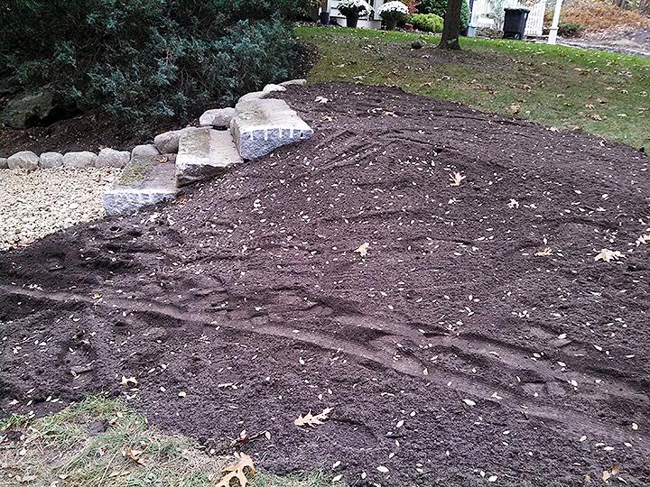 new england landscaper Bedford, MA granite steps, natural stone edge