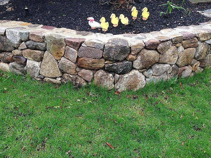 new england landscaper Medford, MA natural stone wall