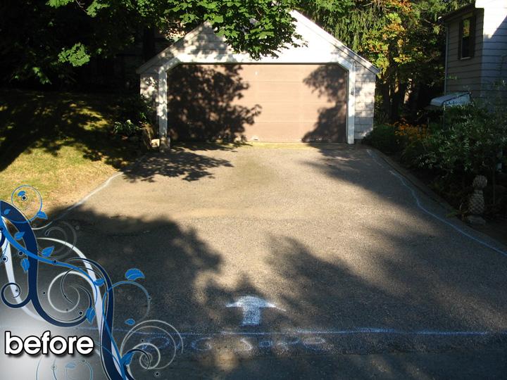 new england landscaper Medford, MA before: paver driveway