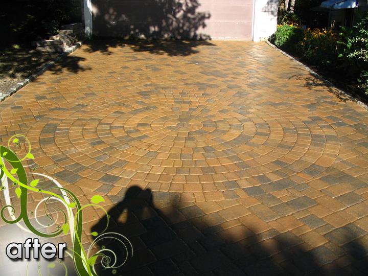 new england landscaper Medford, MA after: paver driveway