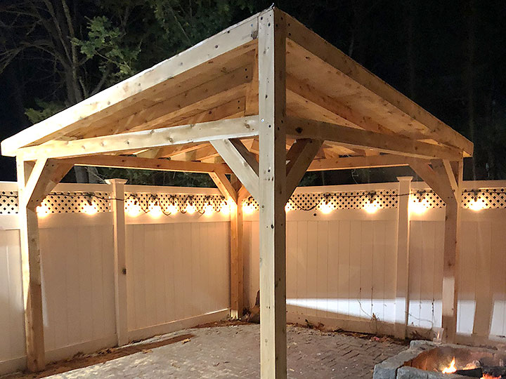 new england landscaper North Reading, MA shade and cover structure, wood pergola