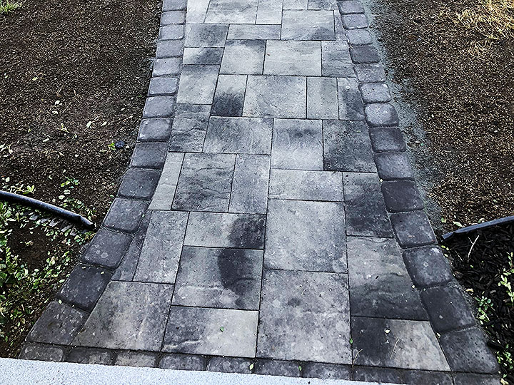 new england landscaper North Reading, MA natural stone stairs, paver walkway