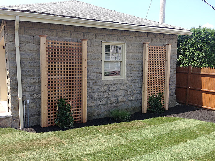 new england landscaper Andover, MA sod, plantings, drywell, growing trellis
