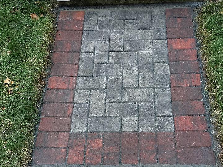 new england landscaper Andover, MA brick sidewalk