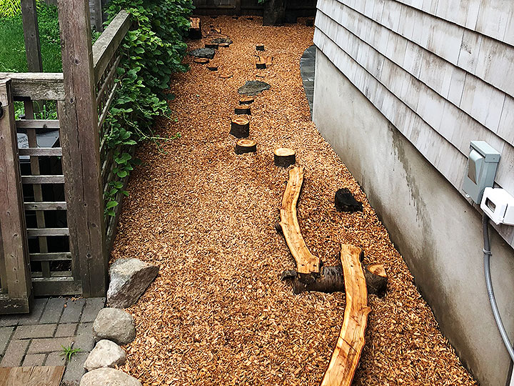new england landscaper Andover, MA kids play area