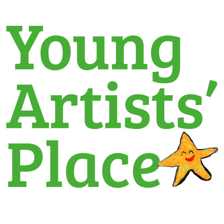 Young Artists' Place logo, with green text and a small cartoon star.
