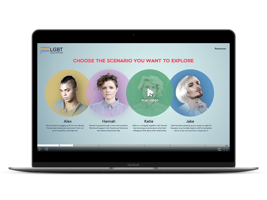 Interactive elearning video developed with Wirewax for LGBTIQ community
