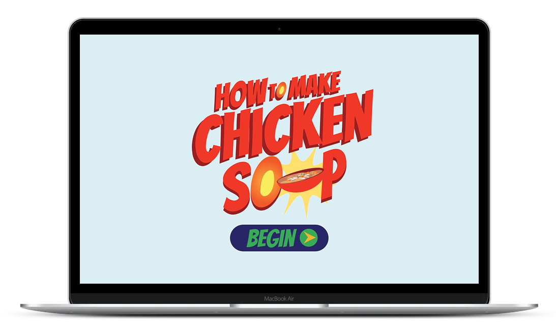 Interactive drag and drop gamified elearning to create chicken soup in Storyline