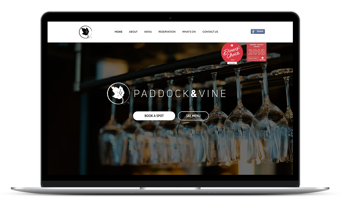 Italian wine bar website created by Wix based in Mona Vale, New South Wales