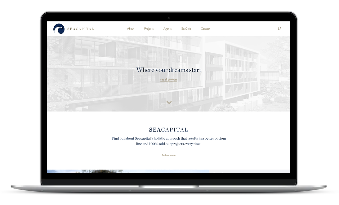 Property management website design in Sydney created with AdobeXD