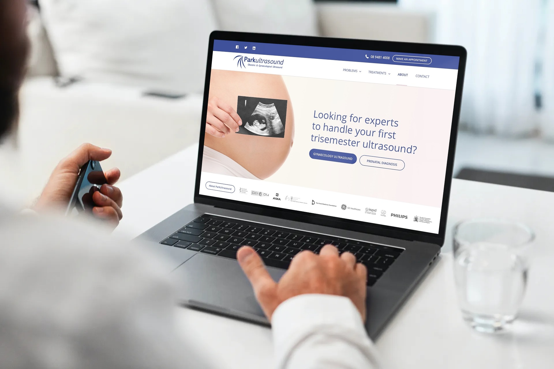 Ultrasound company website design template in Sydney