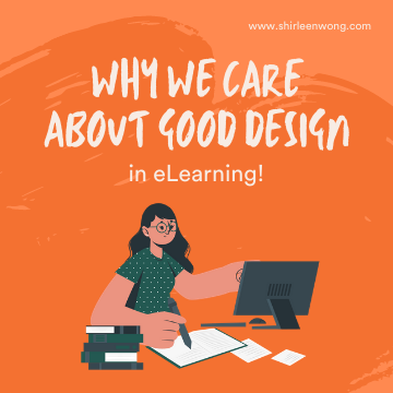 More often than not we are more engaged with aesthetically appealing products. Good designed elearning should be useful and aesthetically pleasing in the same time.