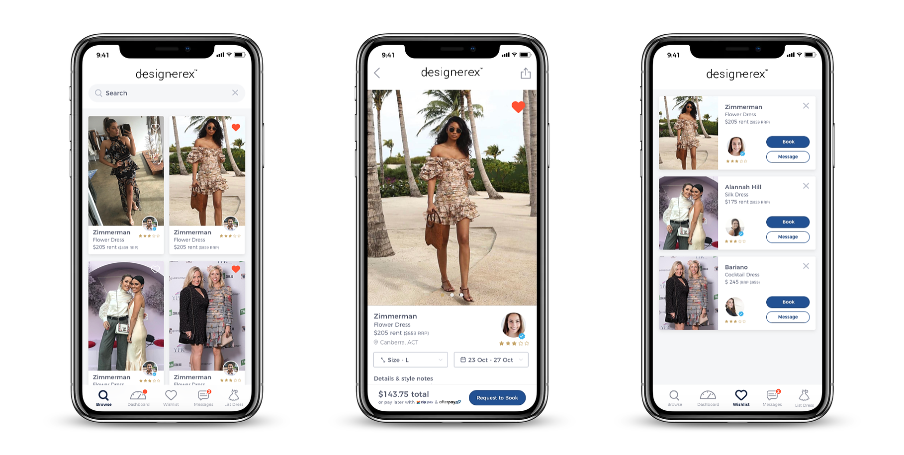 DesignerEx is a dress sharing platform to compare and rent designer dresses. Instead of collecting dust in the closet, users can lend out their designers clothing to others.