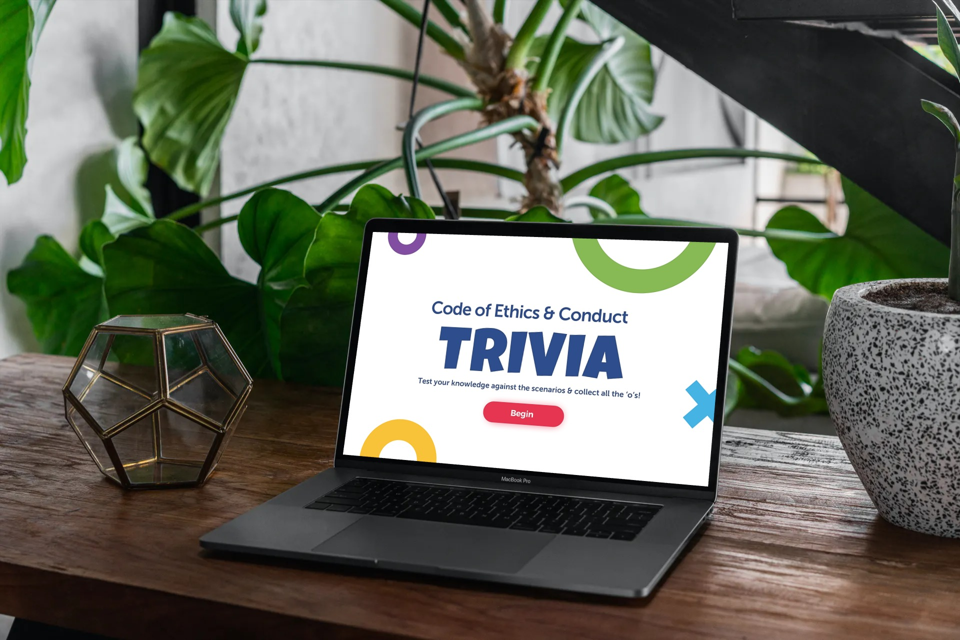 The Code of Conduct Trivia is a scenario-based elearning for Code of Ethics and Conduct in a company.