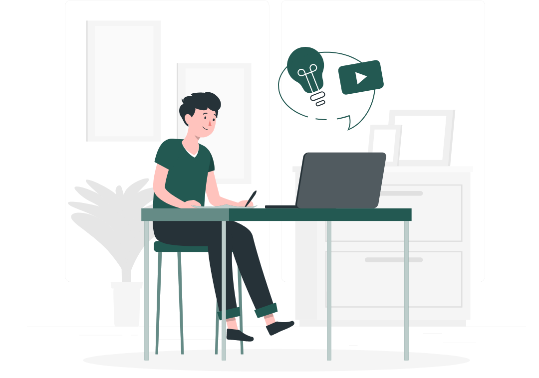 Illustration of a man working on his elearning in Sydney