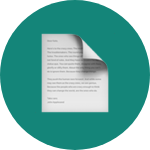 Document emoji on green rounded background