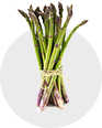 Only the freshest ingredients are used in our dishes - asparagus