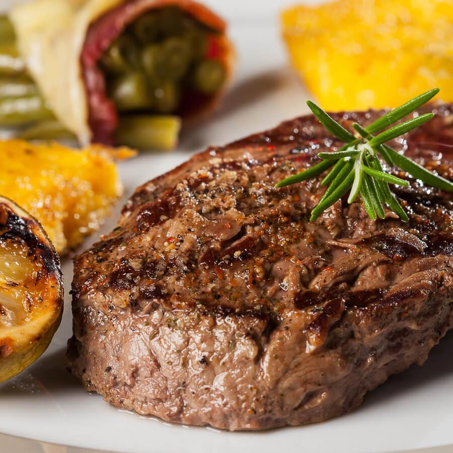 Succulent steaks.