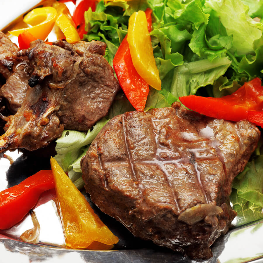 Tasty steak dishes.