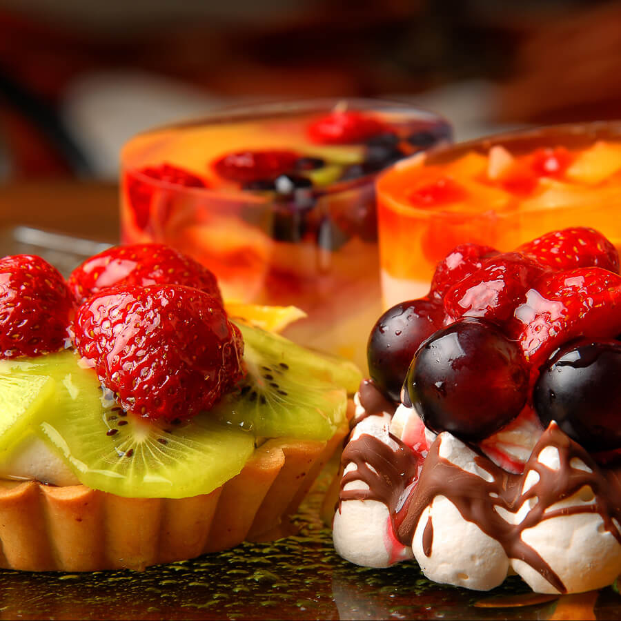 Freshly made desserts