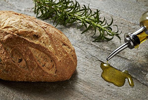 Freshly baked hot bread
