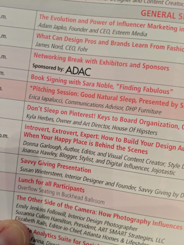 design influencers conference for interior designers session schedule for the day pinterest was my favorite