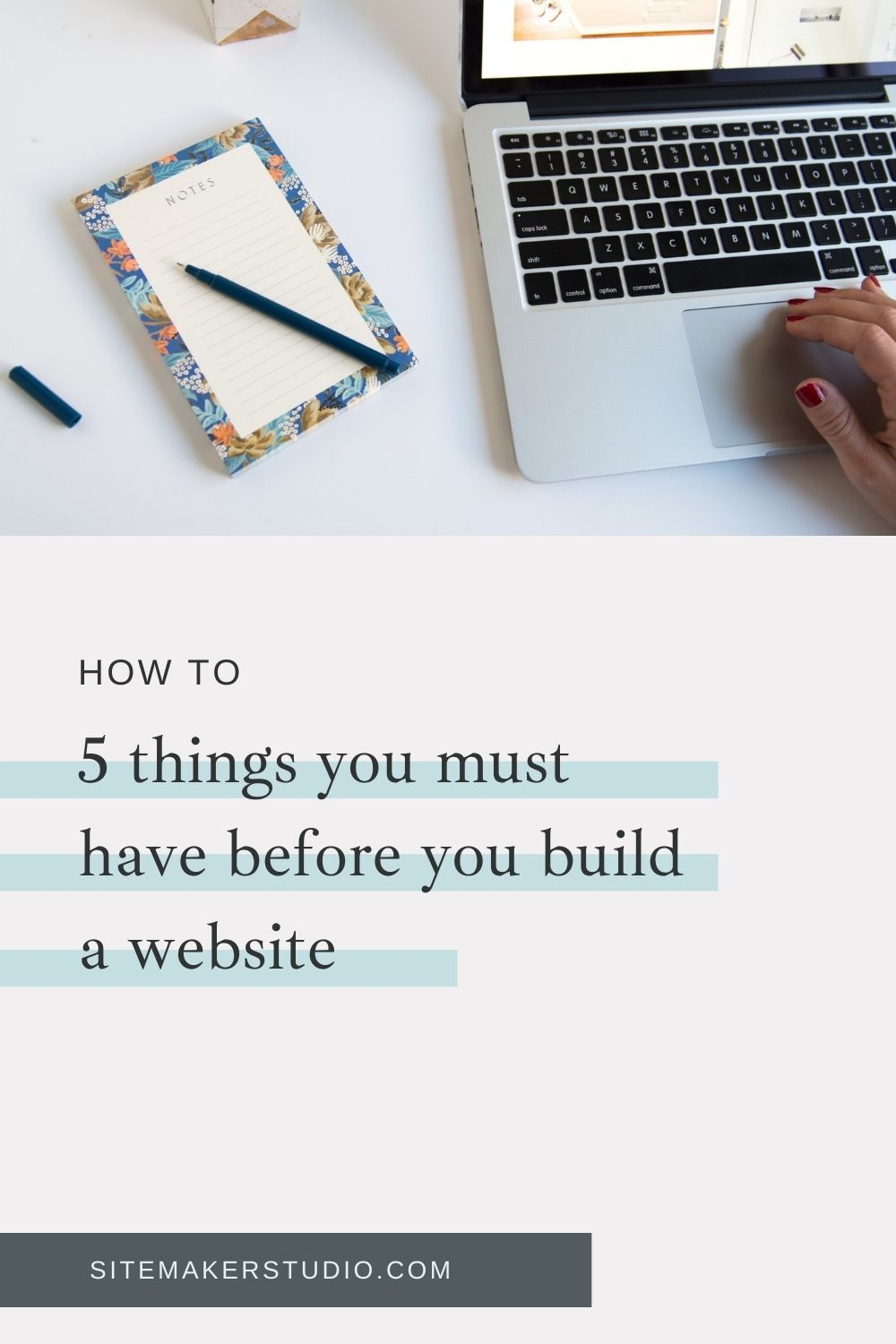 what to have before building a website