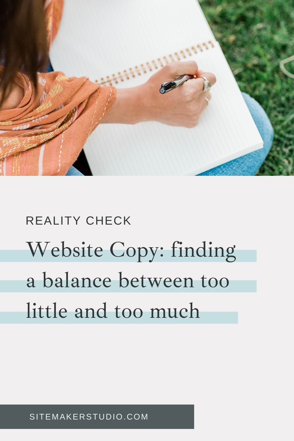 finding the balance of website copy