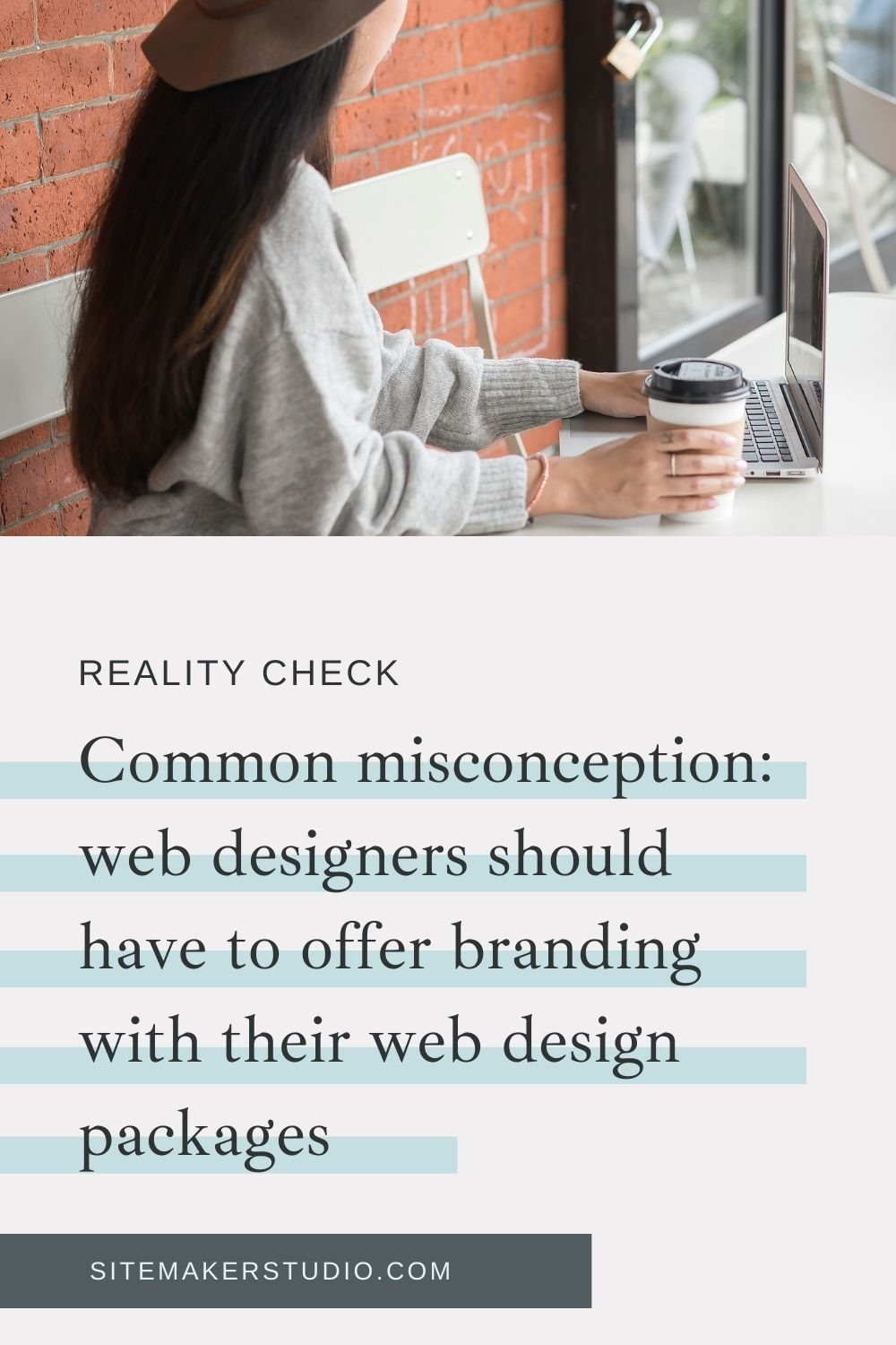 Do you have to offer brand design as part of your web design package? No! You can, but you don't have to. Read more about this common misconception