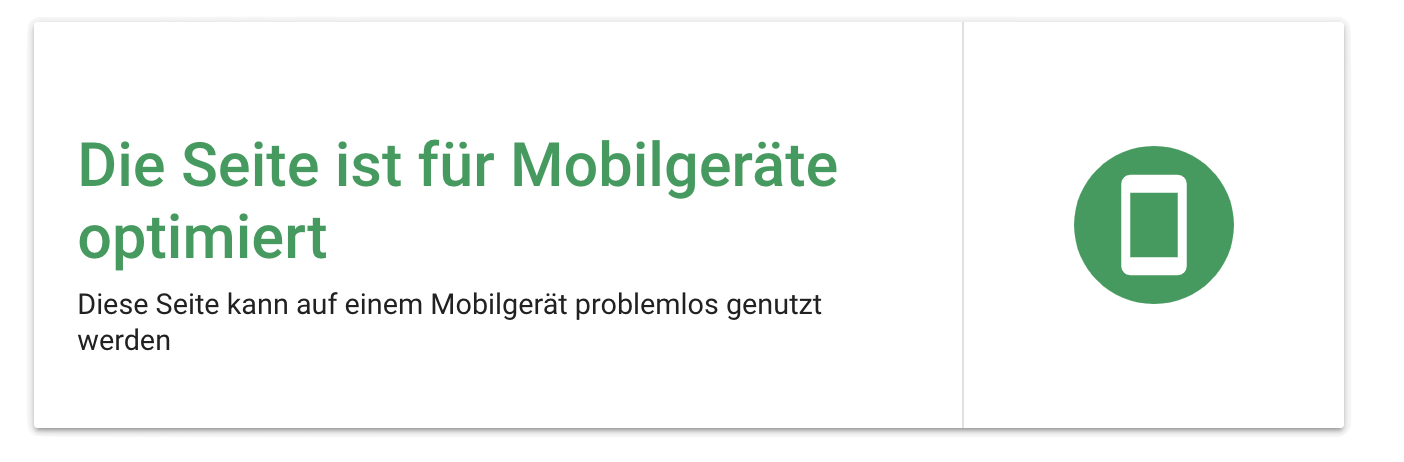 mobil optimierte webseite - google tool