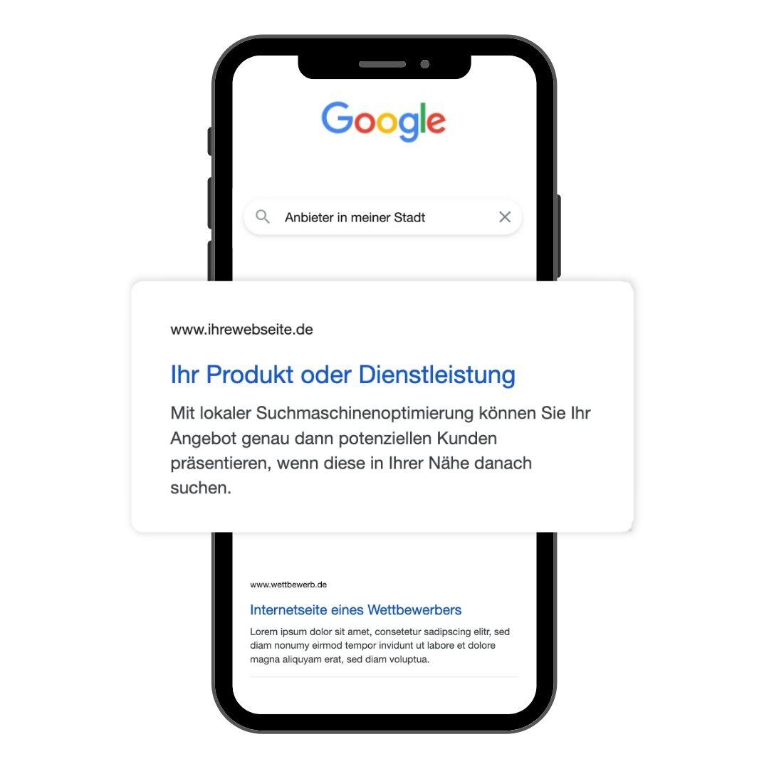 handy mockup google suchergebnis