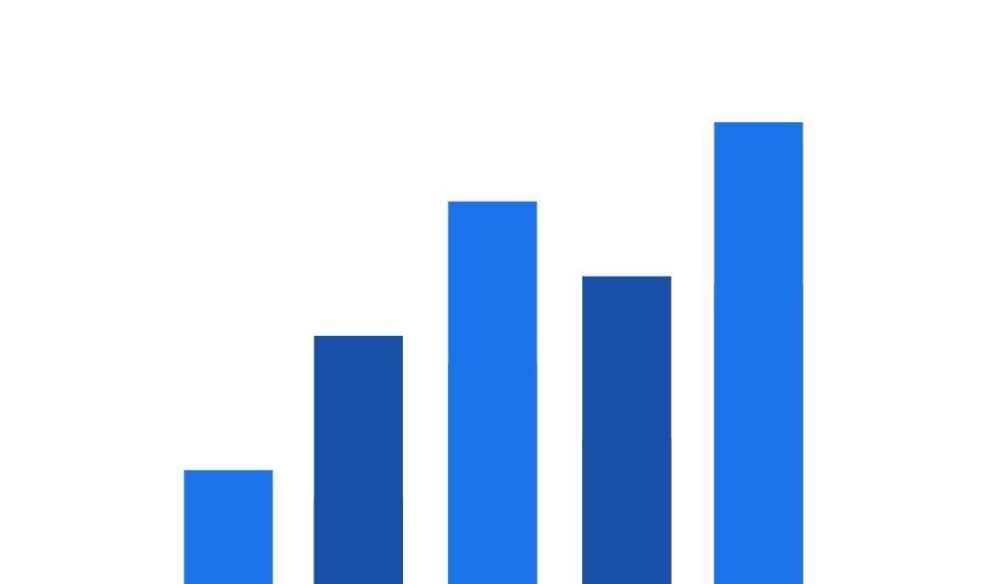 blaues diagramm wachsend