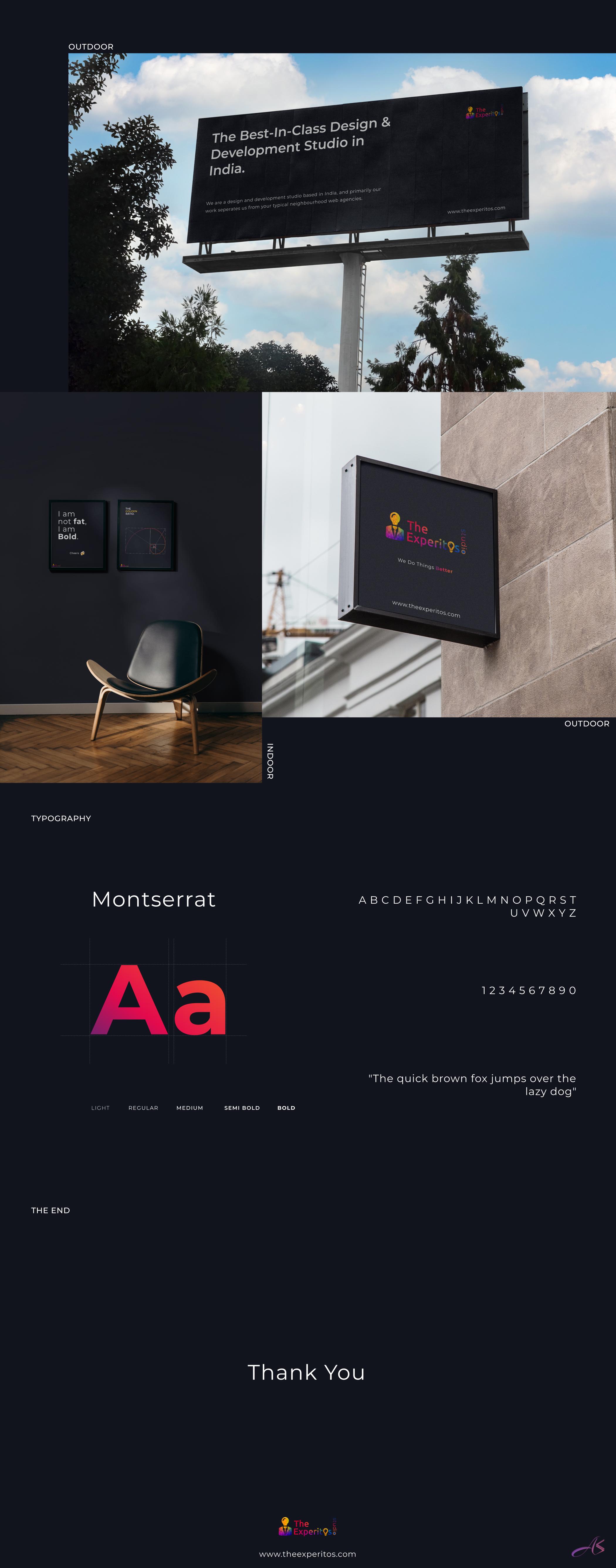 The experitos studio branding