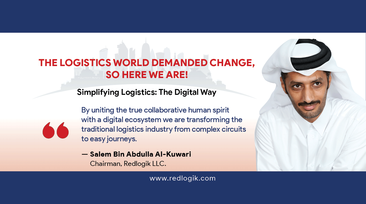 Discover what our evangelist has to say about digitalised logistics.