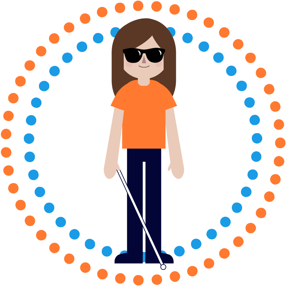 Icon of visually impaired person