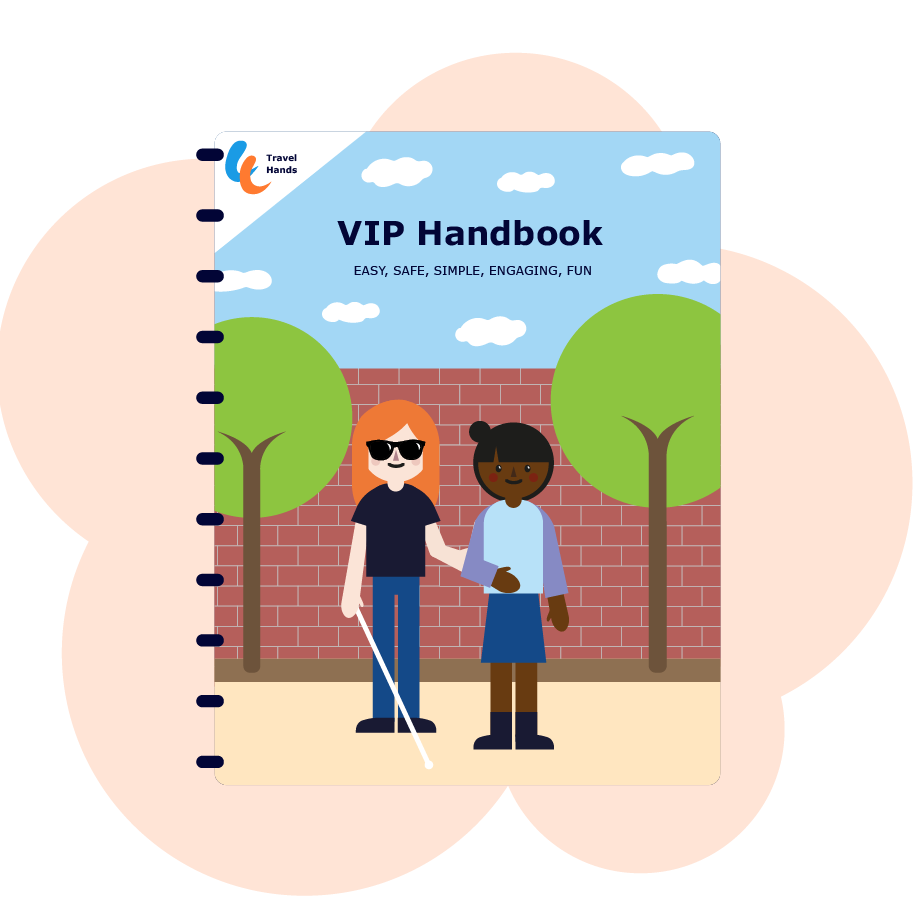 The cover of handbook for visually impaired people