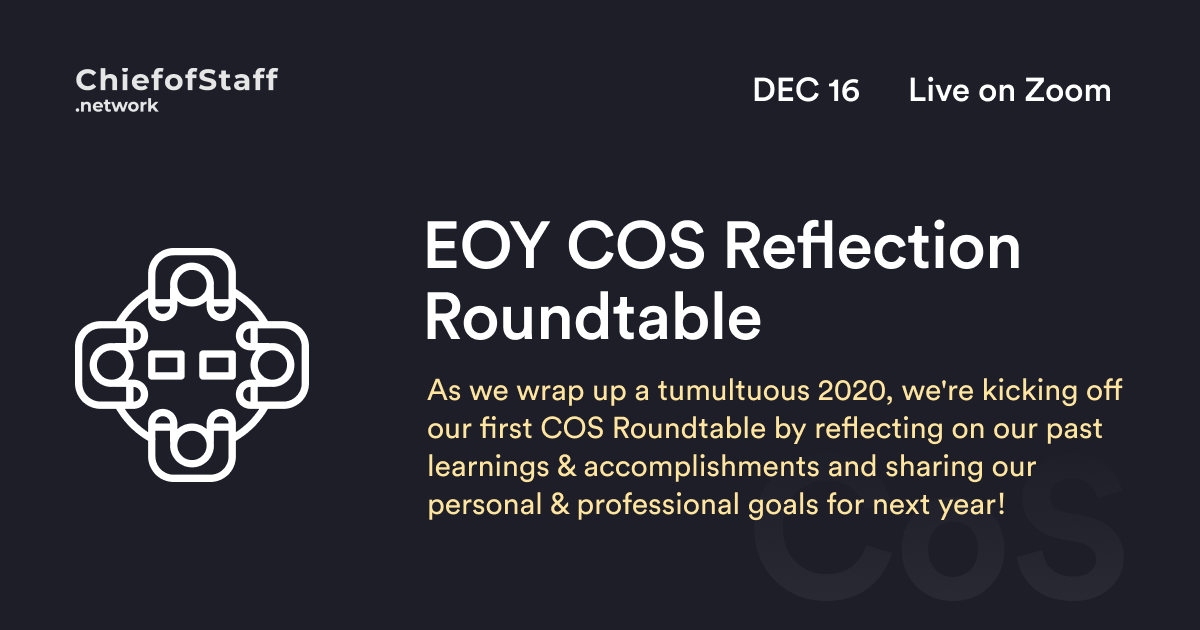 Roundtable: EOY COS Reflection