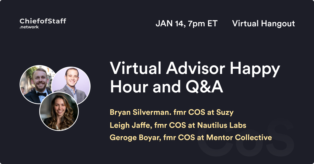 Virtual Advisor Happy Hour and Q&A