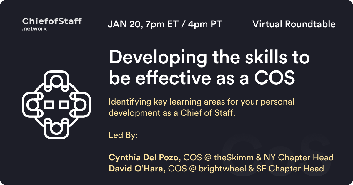 Developing the skills to be an effective COS