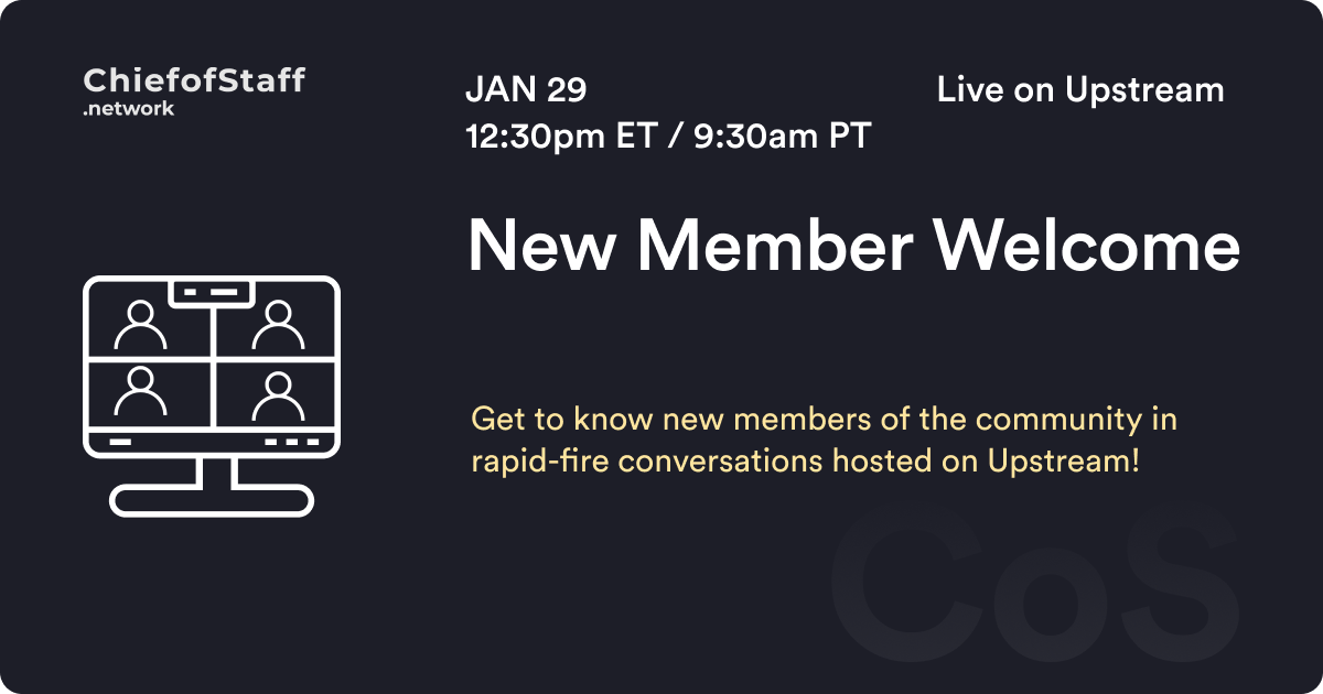 New Member Welcome & Networking
