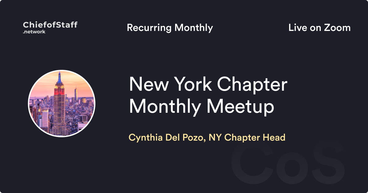 CoS NY Chapter Monthly Meetup