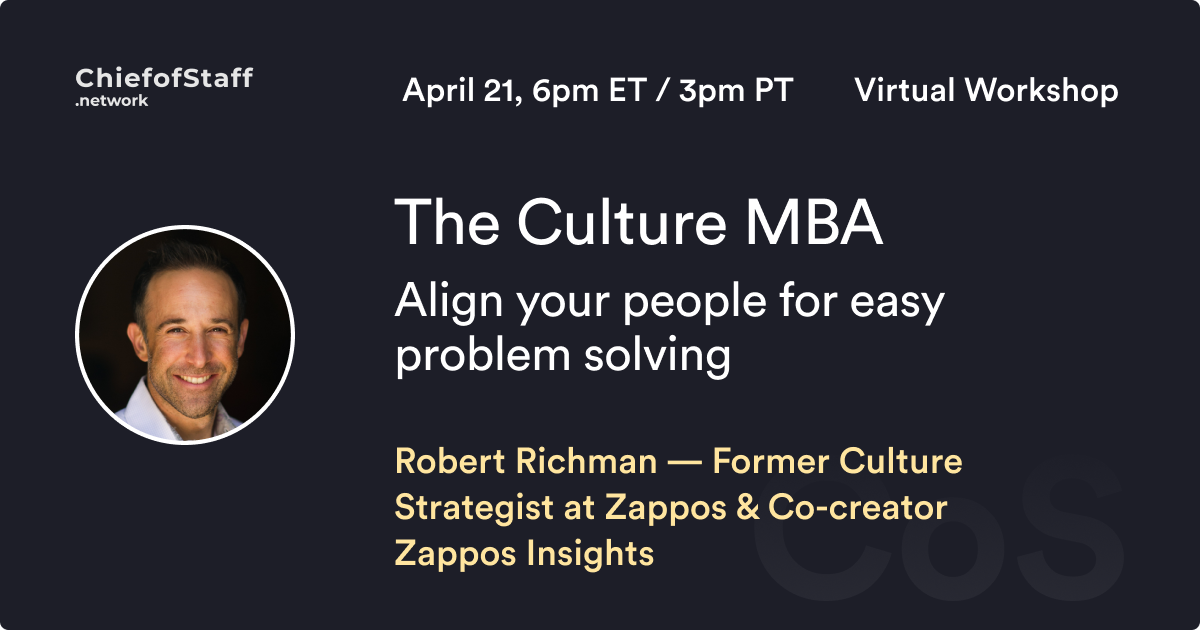 The Culture MBA: Align your people for easy problem solving