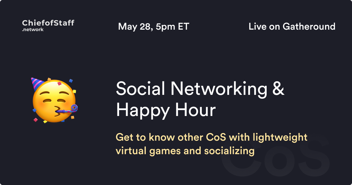 CoS Social Networking & Happy Hour
