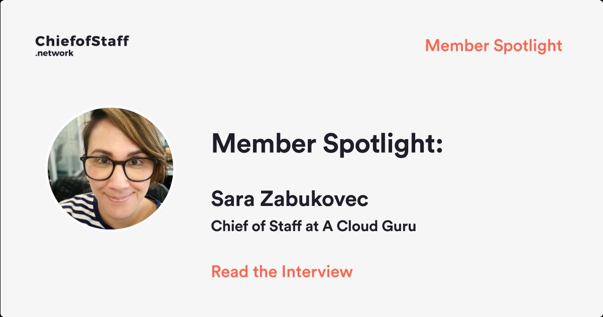Member Spotlight: Sara Zabukovec, CoS at A Cloud Guru