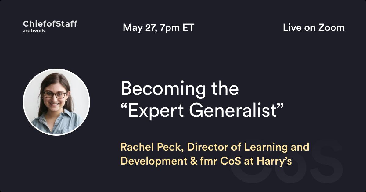 Becoming the Expert Generalist