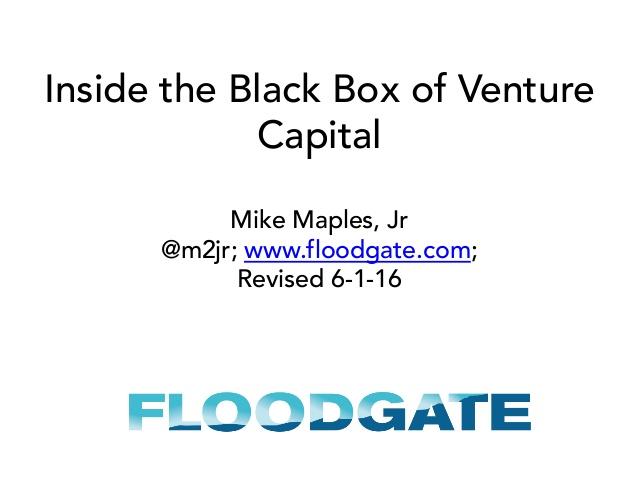 Inside the Blackbox of Venture Capital