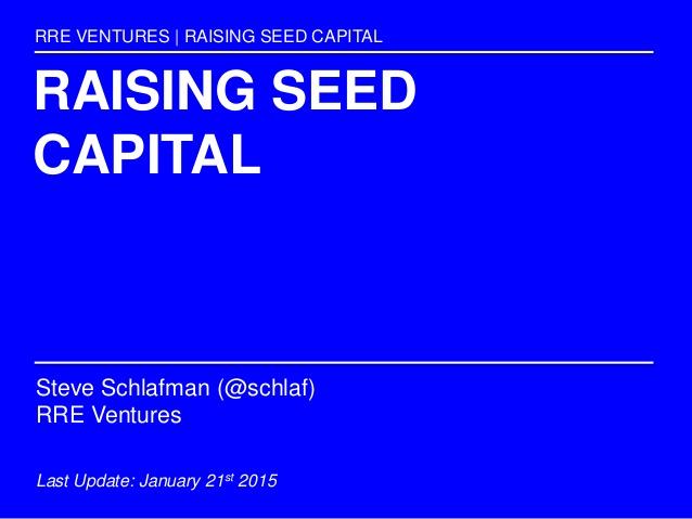 Raising a Seed Round