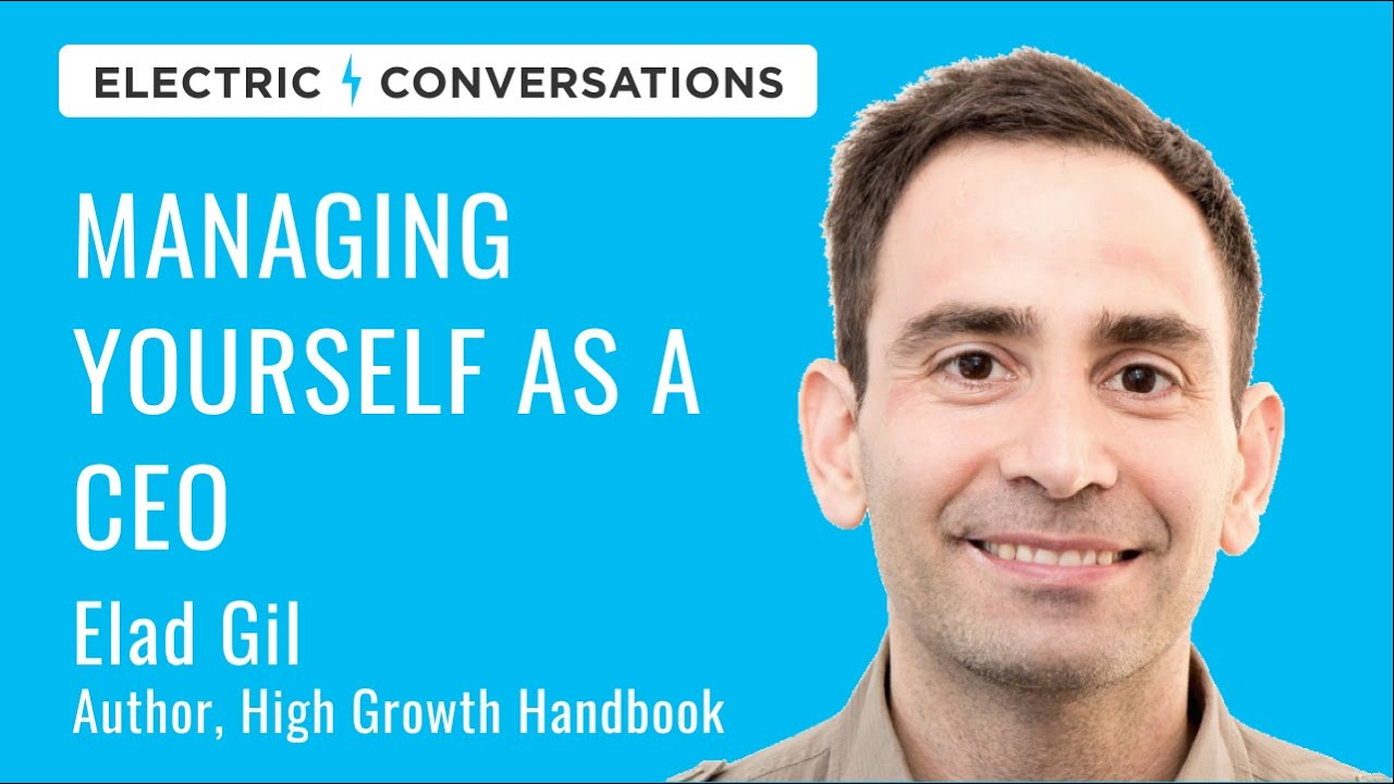 The role of the CEO: managing yourself