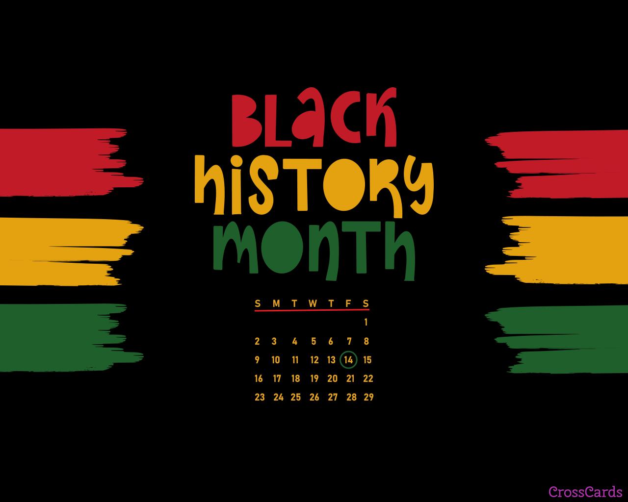 Black History Month - February 2021 Calendar